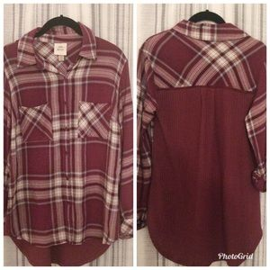 Knox Rose Flannel with Thermal Back Size XS
